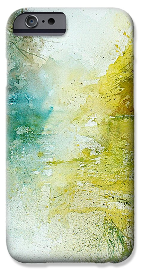 Pond Nature Landscape IPhone 6 Case featuring the painting Watercolor 24465 by Pol Ledent