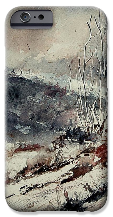Snow IPhone 6 Case featuring the print Watercolor 446 by Pol Ledent