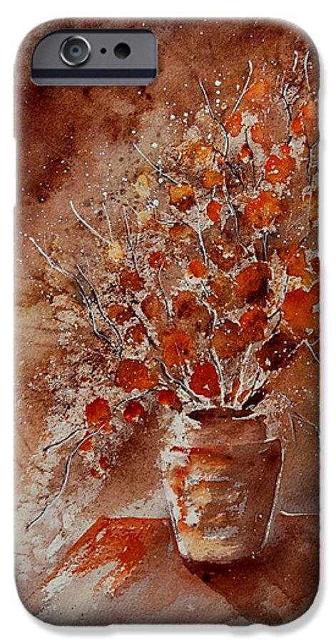 Poppies IPhone 6 Case featuring the painting Watercolor Autumn Bunch by Pol Ledent
