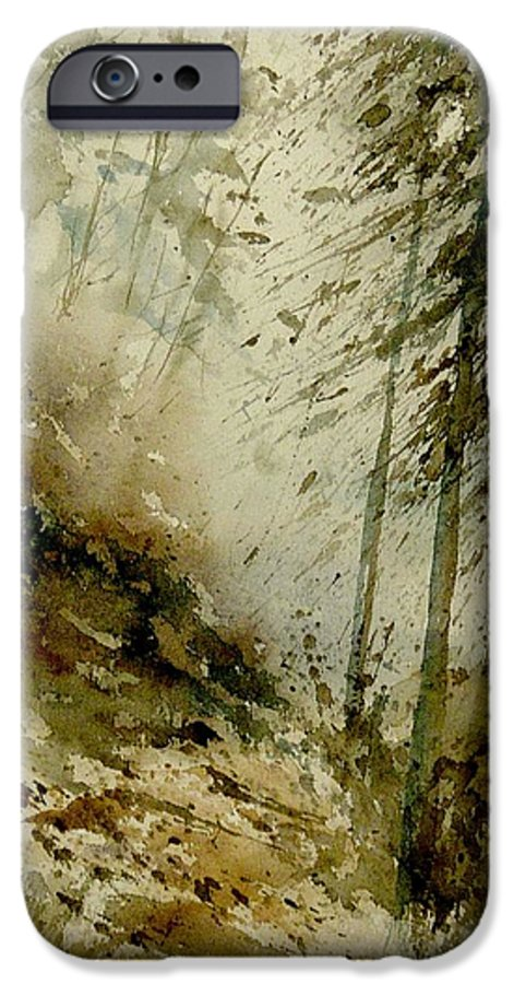 Landscape IPhone 6 Case featuring the painting Watercolor Misty Atmosphere by Pol Ledent