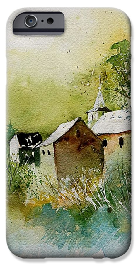 Landscape IPhone 6 Case featuring the painting Watercolor Sosoye by Pol Ledent