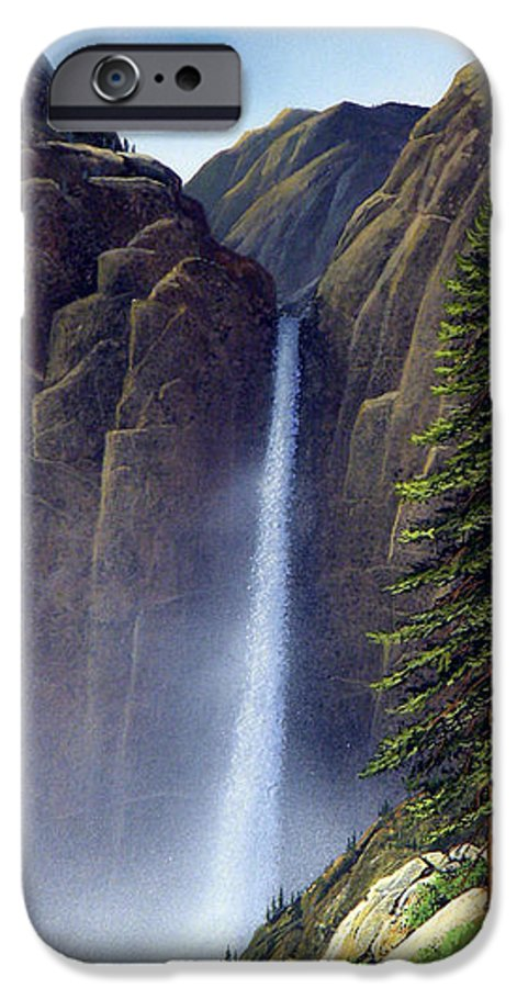 Wilderness IPhone 6 Case featuring the painting Waterfall by Frank Wilson