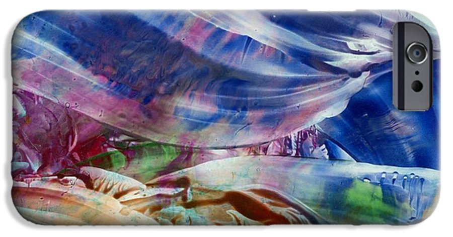 Waves IPhone 6 Case featuring the painting Waves by Eileen Fong