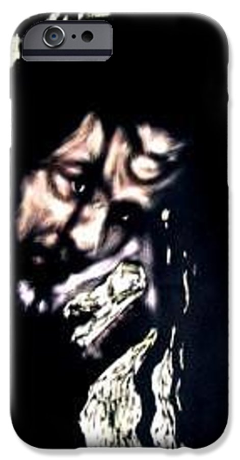 Portrait IPhone 6 Case featuring the mixed media Wear My Crown Down by Chester Elmore