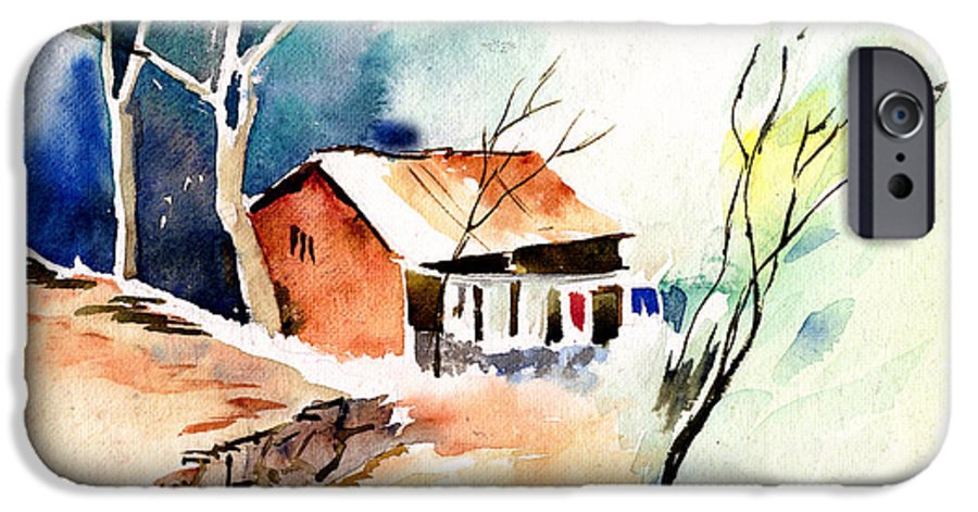Nature IPhone 6 Case featuring the painting Weekend House by Anil Nene