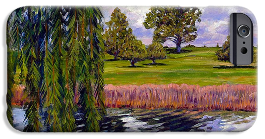 Landscape IPhone 6 Case featuring the painting Weeping Willow - Brush Colorado by John Lautermilch