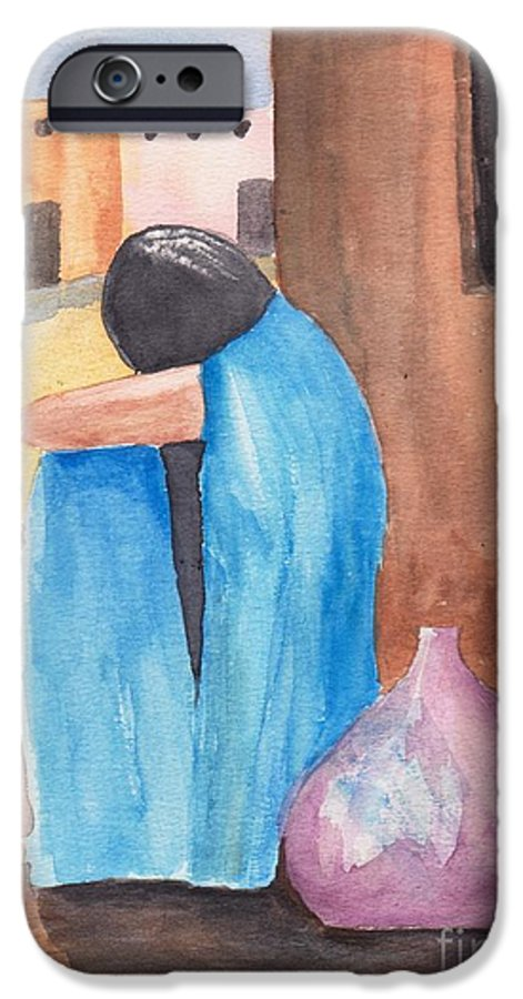 Southwest IPhone 6 Case featuring the painting Weeping Woman by Susan Kubes