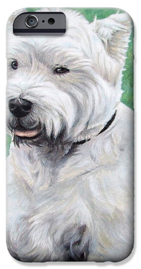Dog IPhone 6 Case featuring the painting West Highland Terrier by Nicole Zeug