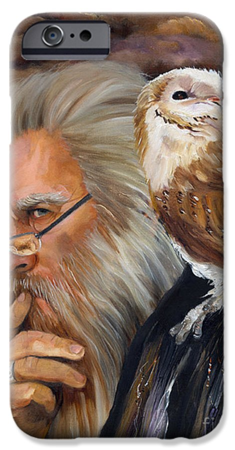 Wizard IPhone 6 Case featuring the painting What If... by J W Baker