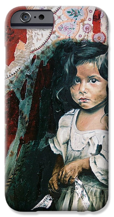 Asian Girl IPhone 6 Case featuring the painting What Is My Worth by Teresa Carter