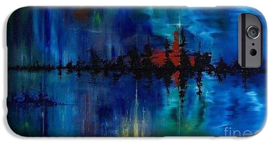Non Objective IPhone 6 Case featuring the painting What Lies Beneath by M J Venrick