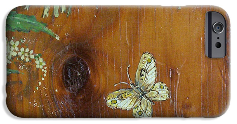 Wildflowers IPhone 6 Case featuring the painting Wheat 'n' Wildflowers II by Phyllis Mae Richardson Fisher