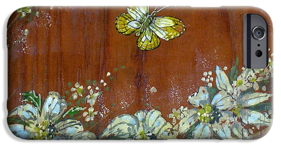 Wildflowers IPhone 6 Case featuring the painting Wheat 'n' Wildflowers IIi by Phyllis Mae Richardson Fisher