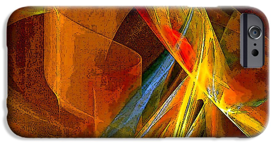 Abstract IPhone 6 Case featuring the digital art When Paths Cross by Ruth Palmer