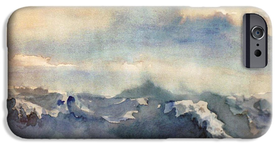 Seascape IPhone 6 Case featuring the painting Where Sky Meets Ocean by Steve Karol