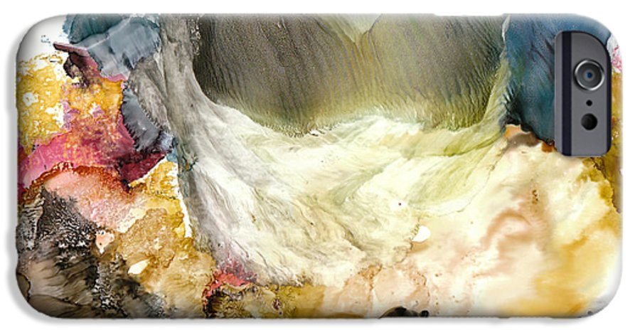 Whitewater IPhone 6 Case featuring the painting Whitewater Rapids by Susan Kubes