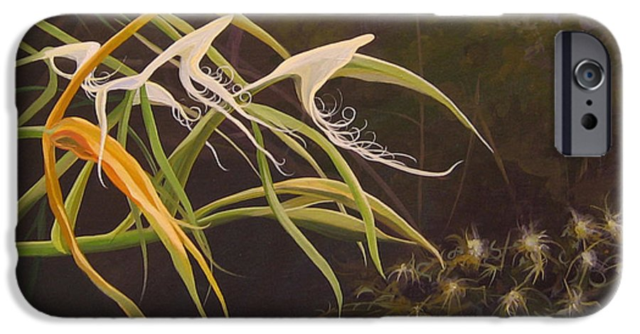 Caribbean IPhone 6 Case featuring the painting Wild Orchids by Hunter Jay