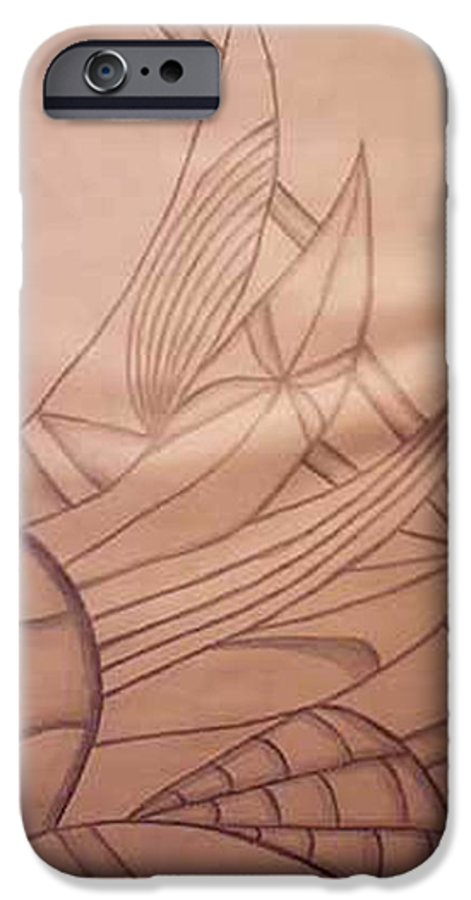 Abstract IPhone 6 Case featuring the drawing Wild Vines by Natalee Parochka