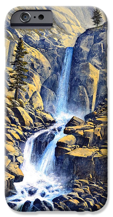Wilderness Waterfall IPhone 6 Case featuring the painting Wilderness Waterfall by Frank Wilson