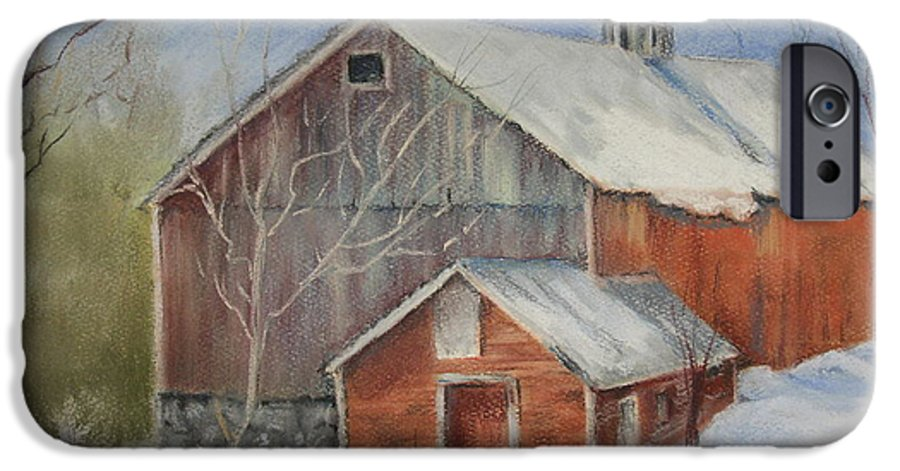 Barn IPhone 6 Case featuring the painting Williston Barn by Carol Mueller