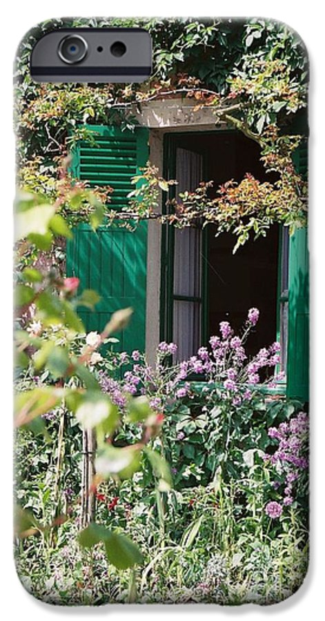 Charming IPhone 6 Case featuring the photograph Window To Monet by Nadine Rippelmeyer