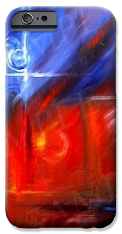 Abstracts IPhone 6 Case featuring the painting Windows by James Christopher Hill