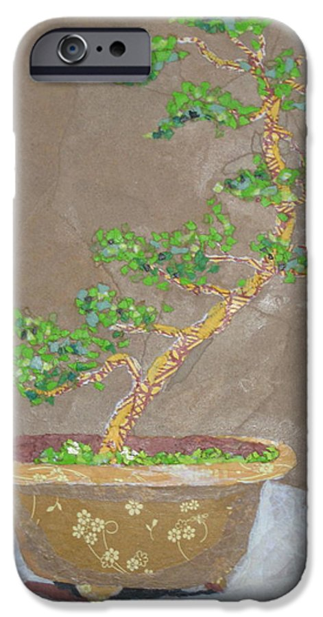 Banzai Tree IPhone 6 Case featuring the painting Windswept Juniper by Leah Tomaino
