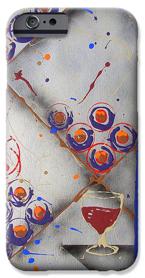Wine IPhone 6 Case featuring the painting Wine Connoisseur by J R Seymour