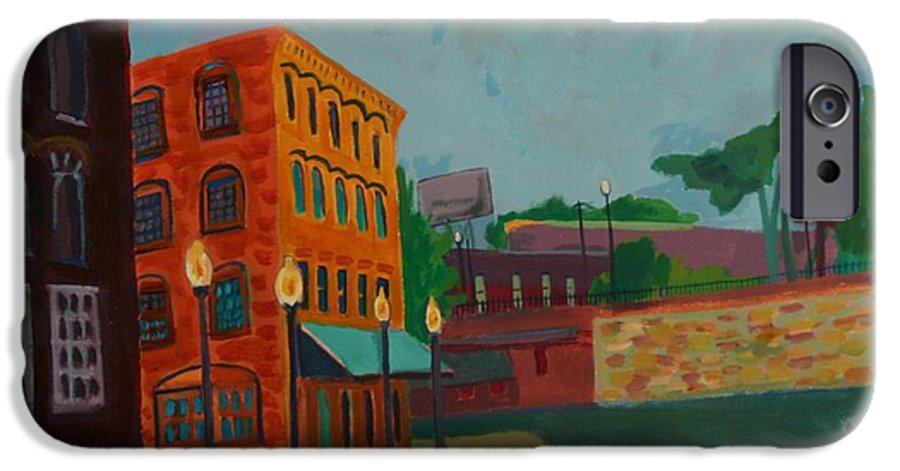 Cityscape IPhone 6 Case featuring the painting Wingate Street by Debra Bretton Robinson