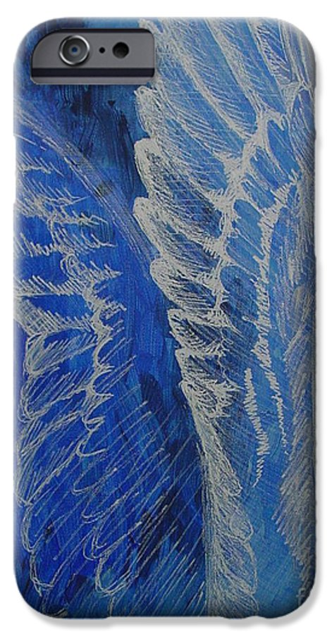 Acrylic IPhone 6 Case featuring the painting Wings Of Angel by Jindra Noewi