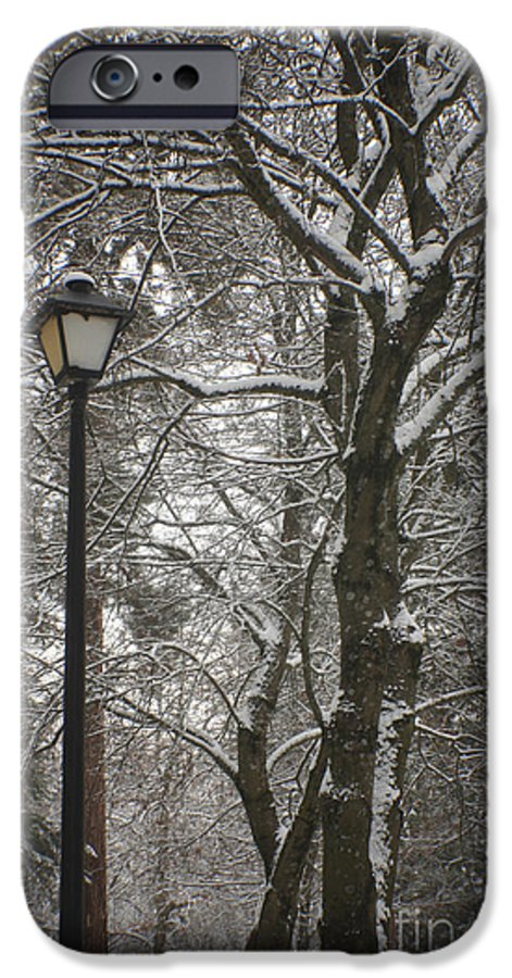 Lamp IPhone 6 Case featuring the photograph Winter Lamp Post by Idaho Scenic Images Linda Lantzy