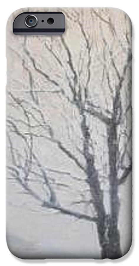 Tree IPhone 6 Case featuring the painting Winter by Leah Tomaino