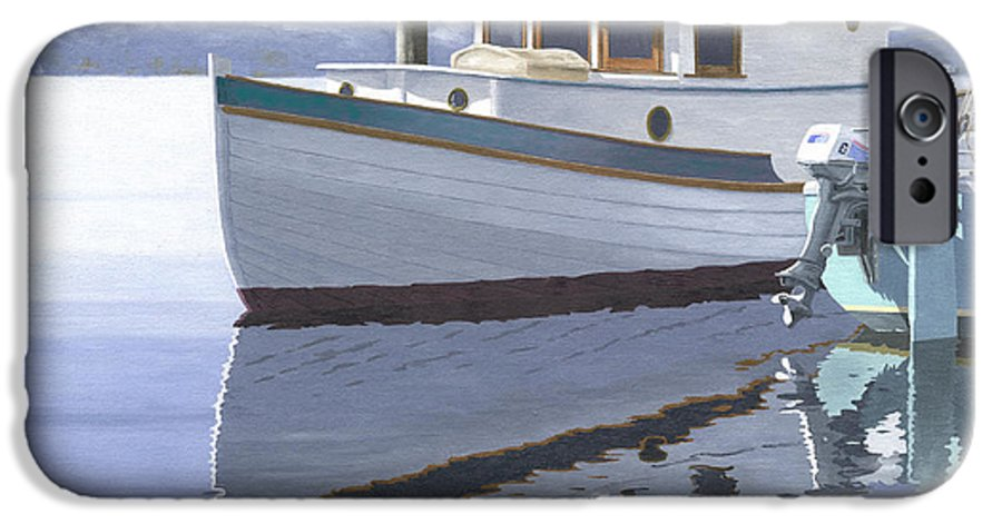 Marine IPhone 6 Case featuring the painting Winter Moorage by Gary Giacomelli
