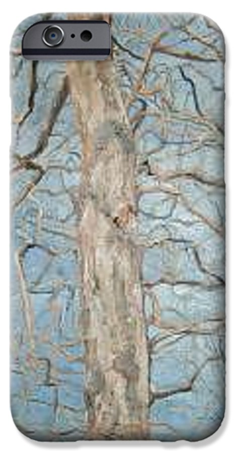 Tree IPhone 6 Case featuring the painting Winter Morning by Leah Tomaino