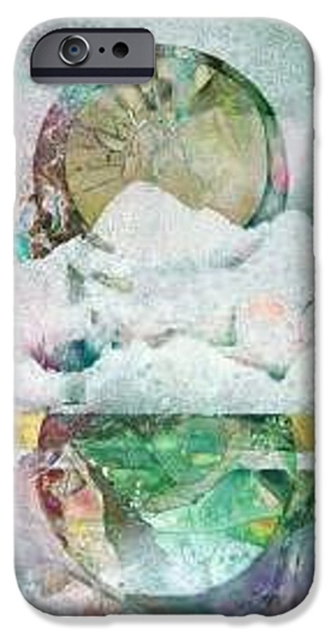 Abstract IPhone 6 Case featuring the painting Winter Solstice by Marlene Gremillion