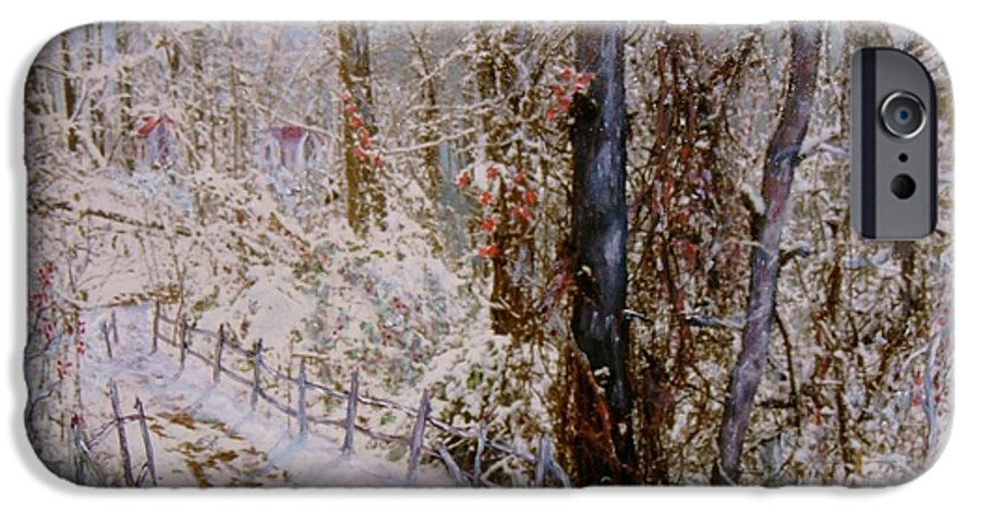 Snow; Trees IPhone 6 Case featuring the painting Winter Wonderland by Ben Kiger