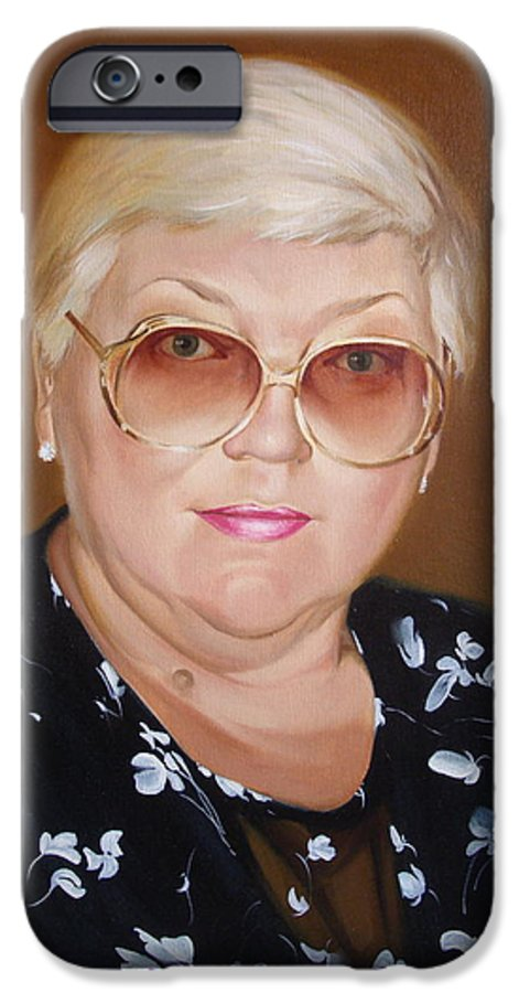Art IPhone 6 Case featuring the painting Woman 1 by Sergey Ignatenko