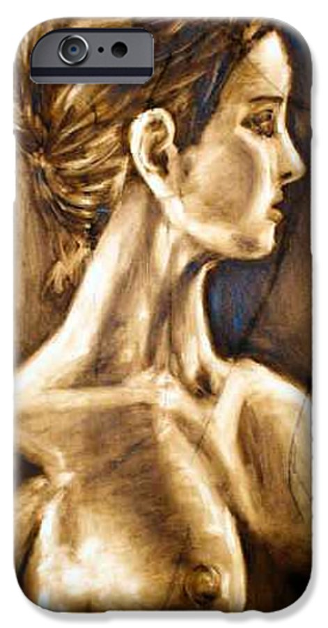IPhone 6 Case featuring the painting Woman by Thomas Valentine