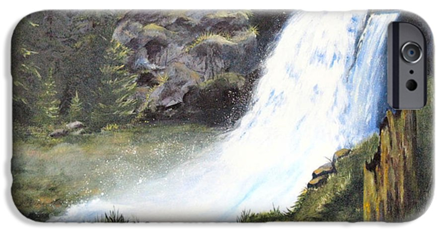 Forest IPhone 6 Case featuring the painting Woodland Respite by Karen Stark