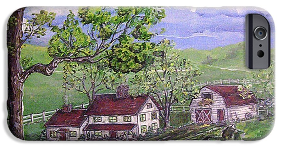 Landscape IPhone 6 Case featuring the painting Wyoming Homestead by Phyllis Mae Richardson Fisher