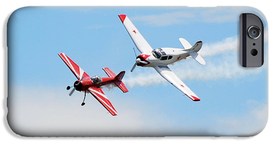 Airplanes IPhone 6 Case featuring the photograph Yak 55 And Yak 18 by Larry Keahey