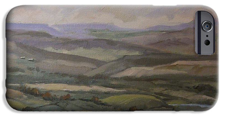 Landscape Water Trees Sky Hills IPhone 6 Case featuring the painting Yakima Vista by Ruth Stromswold