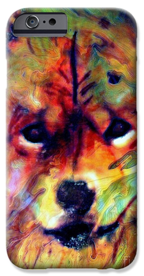 Dog IPhone 6 Case featuring the painting Year Of The Dog by Wbk