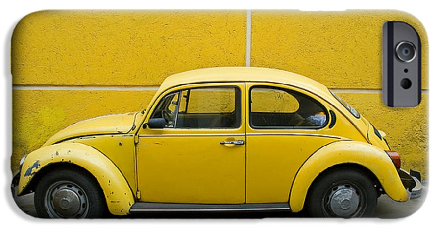 Yellow IPhone 6 Case featuring the photograph Yellow Bug by Skip Hunt