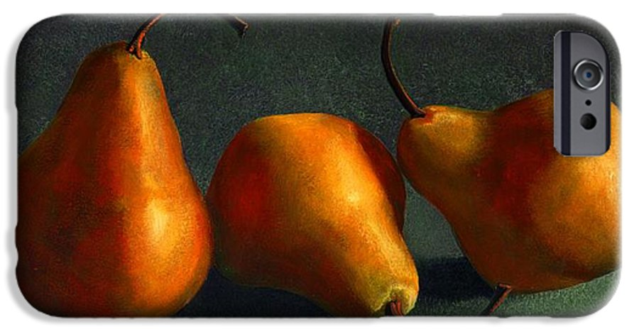 Still Life IPhone 6 Case featuring the painting Yellow Pears by Frank Wilson