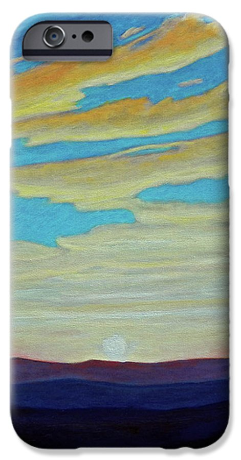Landscape IPhone 6 Case featuring the painting Yesterday by Brian Commerford