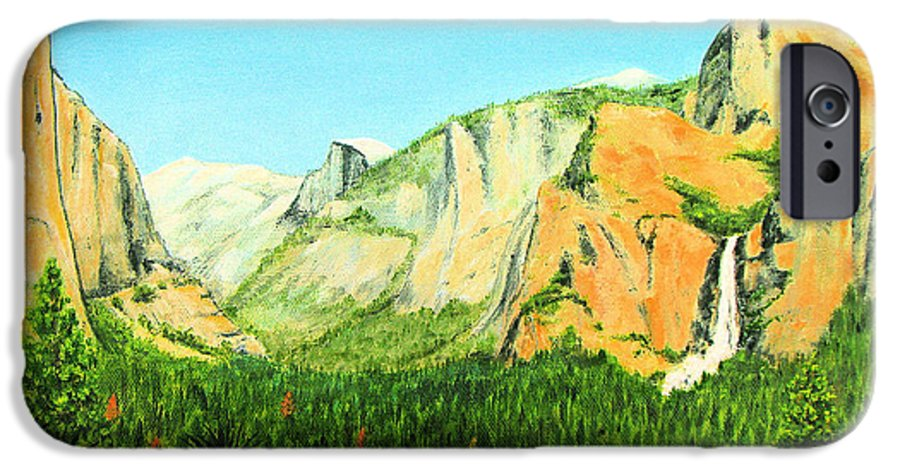 Yosemite National Park IPhone 6 Case featuring the painting Yosemite National Park by Jerome Stumphauzer