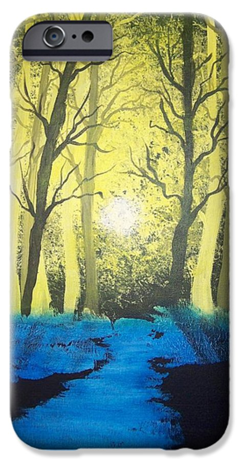 Forest IPhone 6 Case featuring the painting You Cant See The Forest For The Trees by Laurie Kidd