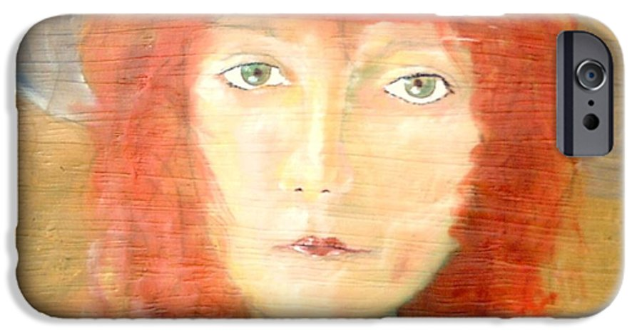 Woman IPhone 6 Case featuring the painting You Found My Hat by J Bauer