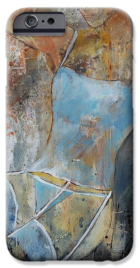 Nude IPhone 6 Case featuring the painting Young Girl 451108 by Pol Ledent